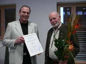 Ehrenmitglied Klaus Bittner anläßlich der Verleihung der Urkunde